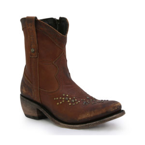 liberty black cotto stud ankle zip boot