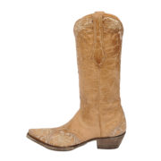 Single Erin boots in bone colour by Old Gringo side facing to the left