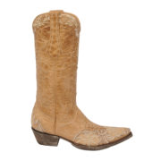 Single Erin boots in bone colour by Old Gringo side facing to the right