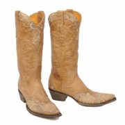 A pair of Erin boots in bone colour by Old Gringo