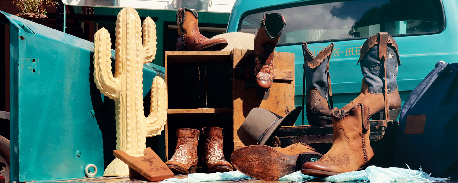 Agave Blue boot collection