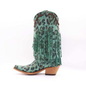 Liberty Black boots, lourdes aqua fringe tall boots, LB-71124