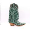 Liberty Black lourdes aqua chita fringe boots, LB-71124