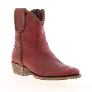 Agave Blue red leather cowgirl boots